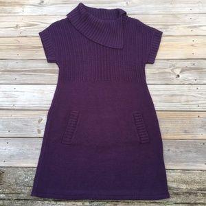 ⬇️$29 AGB Purple Sweater Dress kangaroo pocket